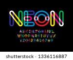 vector of stylized modern font... | Shutterstock .eps vector #1336116887