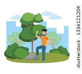 young man cartoon | Shutterstock .eps vector #1336121204