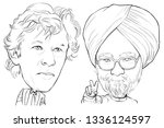 march 12  2019 caricature prime ... | Shutterstock . vector #1336124597
