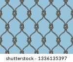rope seamless tied fishnet... | Shutterstock .eps vector #1336135397