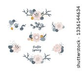 vector floral bouquets spring... | Shutterstock .eps vector #1336144634