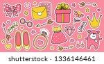 set of cartoon stickers ...   Shutterstock .eps vector #1336146461