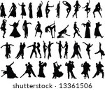 silhouettes of dancing people | Shutterstock . vector #13361506