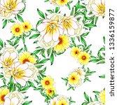 flower print. elegance seamless ... | Shutterstock .eps vector #1336159877