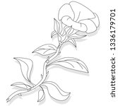 artwork of coloring page for... | Shutterstock . vector #1336179701