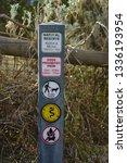 public park guidance signage... | Shutterstock . vector #1336193954