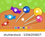 template for finger paint. for... | Shutterstock .eps vector #1336203827