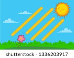 handwriting practice. basic... | Shutterstock .eps vector #1336203917