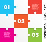 nine pieces puzzle squares... | Shutterstock .eps vector #1336215191