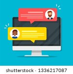 chat messages notification on... | Shutterstock .eps vector #1336217087