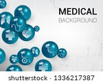 medical background with ball... | Shutterstock .eps vector #1336217387