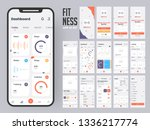 fitness app material design... | Shutterstock .eps vector #1336217774