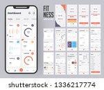 fitness app material design...