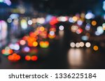 defocused night city life  cars ... | Shutterstock . vector #1336225184