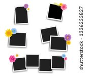 photo frame with flowers big... | Shutterstock .eps vector #1336233827