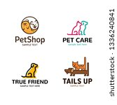 pet logo design template set.... | Shutterstock .eps vector #1336240841