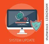 vector illustration of update... | Shutterstock .eps vector #1336242644