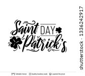 st. patrick's day greeting text ... | Shutterstock .eps vector #1336242917