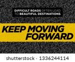 vector motivational poster.... | Shutterstock .eps vector #1336244114