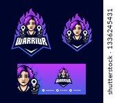warrior girl concept... | Shutterstock .eps vector #1336245431