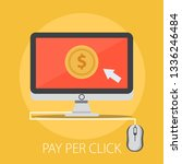 pay per click advertising ... | Shutterstock .eps vector #1336246484