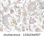 seamless pattern with stylized... | Shutterstock .eps vector #1336246907