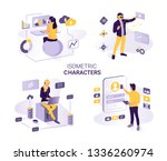 people work and interact with... | Shutterstock .eps vector #1336260974