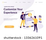 people build a web customer... | Shutterstock .eps vector #1336261091