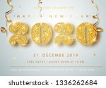 happy new year 2020. golden... | Shutterstock .eps vector #1336262684