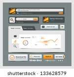 ui elements design grey  web...