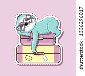 fashion patch badges with cute... | Shutterstock .eps vector #1336296017