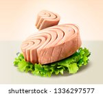 canned tuna with lettuce in 3d... | Shutterstock .eps vector #1336297577