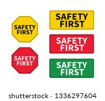 think safety first logo  icon ...   Shutterstock .eps vector #1336297604