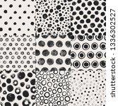 grunge spots  circles hand...   Shutterstock .eps vector #1336302527