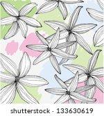 flowers background. vector. | Shutterstock .eps vector #133630619