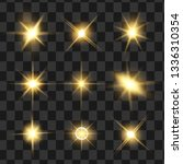 glow isolated yellow light... | Shutterstock .eps vector #1336310354