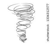 tornado destructive wind...   Shutterstock .eps vector #1336312577