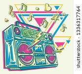 music design   funky colorful... | Shutterstock .eps vector #1336317764