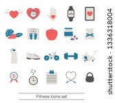 fitness and healthy lifestyle... | Shutterstock .eps vector #1336318004