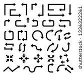 black arrows. set of symbols.... | Shutterstock .eps vector #1336322261