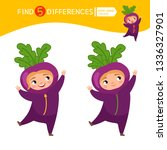 find differences.  educational... | Shutterstock .eps vector #1336327901