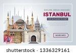 istanbul travel banner design... | Shutterstock .eps vector #1336329161