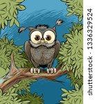 vector illustration of an owl... | Shutterstock .eps vector #1336329524