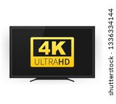 screen tv with 4k ultra hd... | Shutterstock .eps vector #1336334144