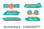 set of sale tags or banners ... | Shutterstock .eps vector #1336334477