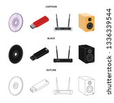 vector design of laptop and...   Shutterstock .eps vector #1336339544