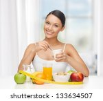 young woman with healthy... | Shutterstock . vector #133634507