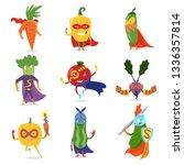 superhero vegetables in masks... | Shutterstock .eps vector #1336357814