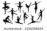 silhouettes of a ballet dancer... | Shutterstock . vector #1336358654