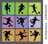 soccer boy silhouettes 2. very... | Shutterstock .eps vector #133636241